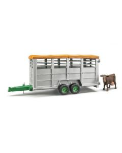 Bruder Livestock Trailer With Cow 02227