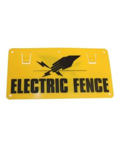 Electric Fence Warning Sign