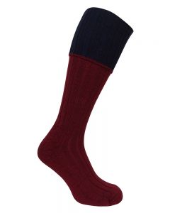 Hoggs Contrast Cable Knit Stockings