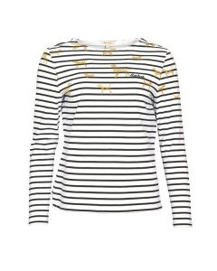 Barbour Hawkins Print Top Off White