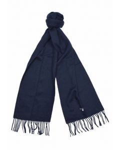 Barbour Lambswool Scarf Sapphire Blue