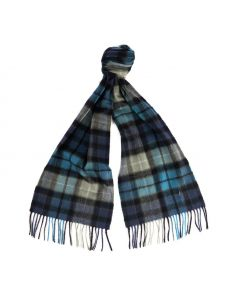 Barbour New Check Scarf Black