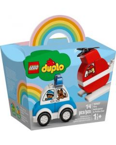 LEGO Duplo Fire Helicopter + Police Car