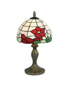 Red flower table lamp