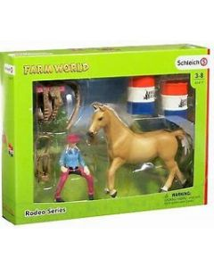 Schleich Barrel Racing With Cowgirl 41417