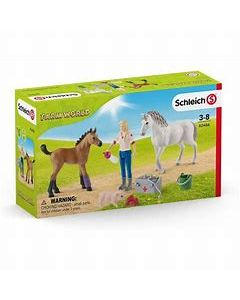 Schleich Vet Visiting Mare + Foal 42486