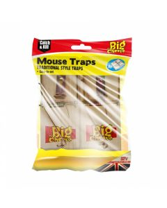 The Big Cheese Tradional Wooden Mouse Traps