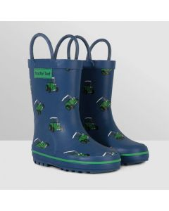 Tractor Ted Navy Welly boots